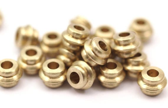 Pcs raw brass industrial tubes spacer beads findings