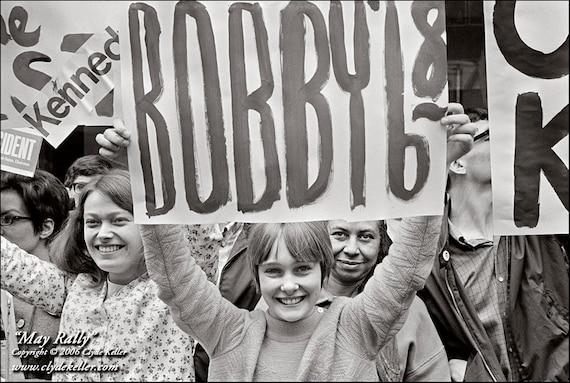 Robert F. Kennedy, MAY RALLY,  Portland, Oregon, 1968, Clyde Keller Photo, Fine Art Print, Black and White, Signed, Treasury