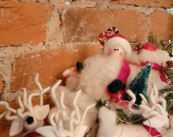 A Midnight Clear Felted Wool Christmas Figurine - NEW for 2017