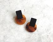 Bex earrings | tortoise earrings | abstract statement earrings