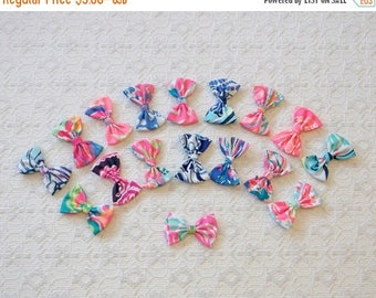 Celebrate8K Preppy Little Lilly Pulitzer Fabric Hair Bow Many Prints