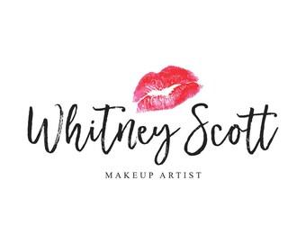 Lipsense Logo Senegence Logo Makeup Artist Logo Beauty Blog Logo Lipstick Logo Branding Package Beauty Brand Marketing Watercolor Logo