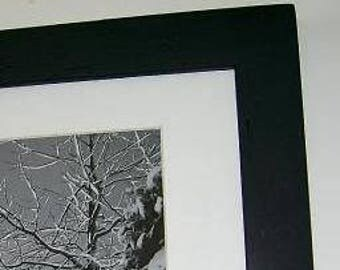 11x14 Picture Frame Black with Acrylic Glass, Backing and Mounting Hardware