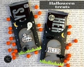 KIT Halloween Tombstone Candy Bar Wrap and Tag / Hershey Candy Bar / Party Favor / Teacher Appreciation / Game Prize / Classroom Treat
