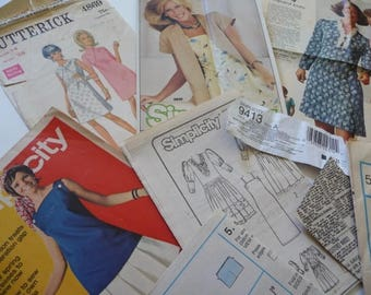 Vintage Sewing Ephemera, Papers, Brochures, Destash, Vintage Envelope,Sewing Direction Sheets,Scrapbooking,Art,Collage,Paper,Crafts,Supplies