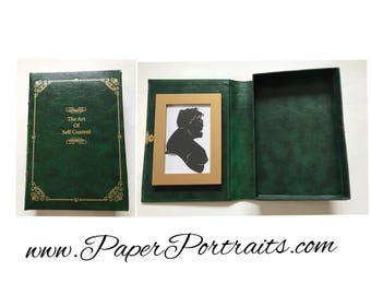 The Art of Self Control, OOAK Book Box with Real Hand Cut Silhouette of the Hulk