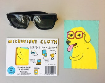 Microfibre Cloth - Glasses Dog