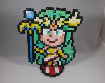 Palutena - Kid Icarus - Nintendo Super Smash Bros - Perler Bead Sprite Pixel Art Figure Stand or Lanyard Necklace