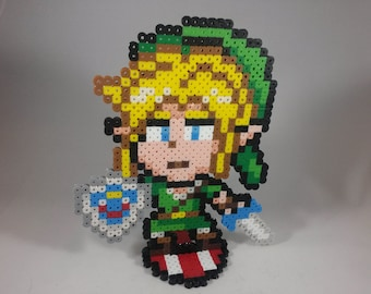Link - Legend of Zelda - Nintendo Super Smash Bros - Perler Bead Sprite Pixel Art Figure Stand or Lanyard Necklace