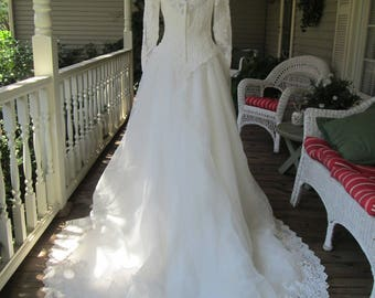 Mon Cheri 90s Beaded Lace Wedding Dress