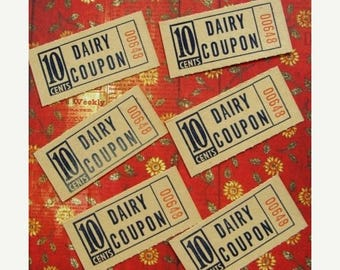 ONSALE Vintage Dairy Tickets Down on the Farm