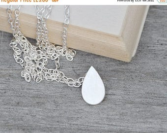Summer Sale Raindrop Necklace Teardrop Necklace, Weather Forecast Necklace In Sterling Silver, Handmade In England