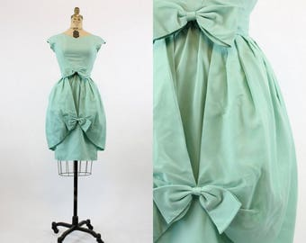 60s Dress and Skirt XS / 1960s Vintage Dress Wiggle Dress and Bubble Skirt / Lorrie Deb Mint Dress