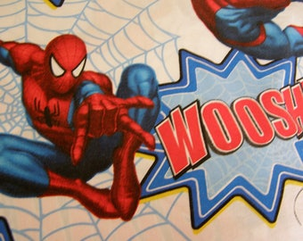 Single Flat Sheet SPIDERMAN -Marvel Comics-FABRIC for crafts or sewing