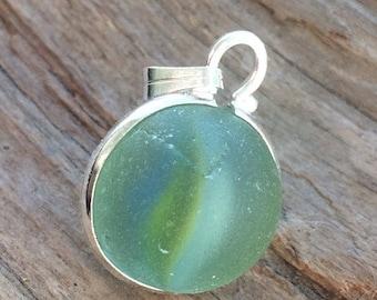 ON SALE Sea Glass Marble Pendant
