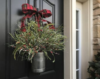 SHIPS In 1 BUSINESS DAY, Country Farmhouse Christmas Decor, Home Decor, Holiday Wreaths, Christmas Baskets, Holiday Decorations