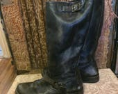 "Frye Veronica Slouch Black ""Calf Shine"" size 9.5"