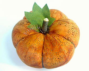 Size 8 | Batik Dot Pumpkin |Halloween Decor |Folk Art |Fall Decor |Thanksgiving Decor |Handmade Gift |Fabric Pumpkin |Halloween Pumpkin |#4