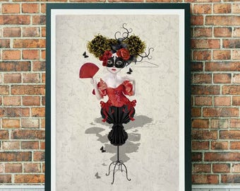 A3 Art Print - Large Print - French Mannequin - Mannequin Art Print - Wall Decor - Mannequin