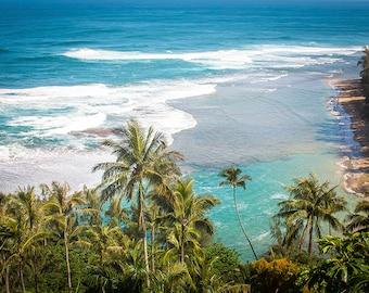 Hawaiian Fine Art Canvas wrap- Na Pali Coast Kauai, Hawaii- Ke'e Beach