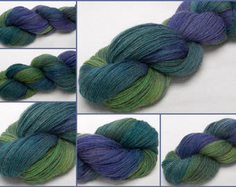 Hand dyed yarn, Alpaca, Merino,hand dyed fingering yarn, luxury yarn,soft lush yarn,  Indie dyed, teal yarn, Zircon