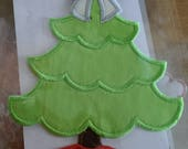 DIY Iron On Applique Patch - Christmas Tree
