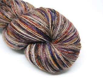 "Glam Rock Sparkle Sock Yarn - ""Haunted Harvest"" -  Handpainted Superwash Merino - 438 Yards"