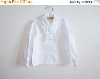 SALE // Vintage White Blouse