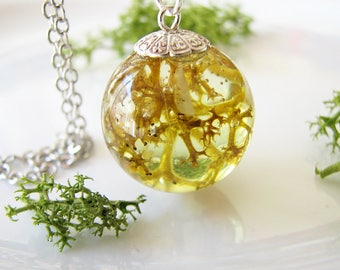 Moss Necklace Moss Jewelry Resin Necklace Resin Jewelry Woodland Necklace Nature Necklace Gift for Her