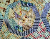 Antique Cutter Quilt from Plaid Feedsack Fabric