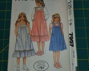 1980s Girls Vintage Sundress ruffle option 10 McCalls 7957
