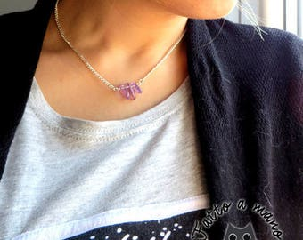 Stone necklace, Ametrine, purple, wellness, health, chakras, Crystal therapy, for her,