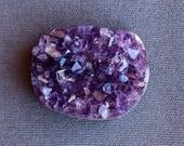 Purple Amethyst Druzy Cabochon - Druzy Stone