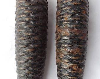 2 Vintage Large Pine Cone Weights for Cuckoo Clock
