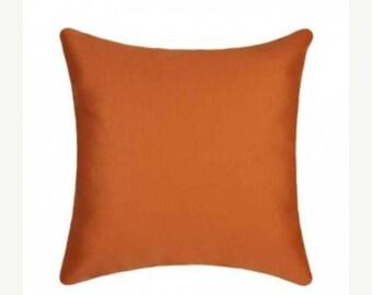 Orange Outdoor Pillow, Sunbrella Canvas Tuscan Outdoor Pillow, Sunbrella Throw Pillow, Free Shipping, orange sunbrella pillow, 5417-0000