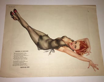 Varga Girl Esquire Gatefold Pinup October 1943