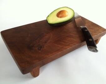 Knotty and Nice BLACK WALNUT Cutting Board SUSHI Serving board/Bar board