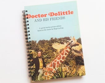 Dr Dolittle and his friends, 1967, Recycled Book Journal & Notebook