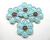 Fabric Coasters, Quilted Coasters, Quilted Mug Mats, Drink Coasters, Flower Coasters, Country Home Decor Cottage Decor Hostess Gift Handmade