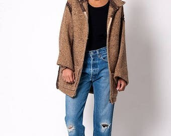 """40% OFF CLEARANCE SALE The Vintage Wool """"Calcutta"""" Poncho Jacket"""