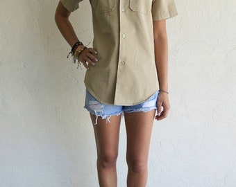 """40% OFF Taupe """"Eagle"""" Scout Military Shirt"""