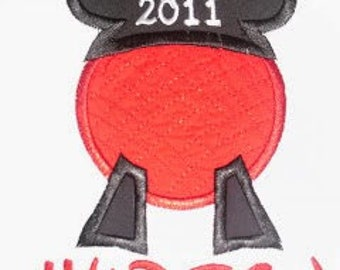 Custom Epcot Mickey Mouse Applique Shirt