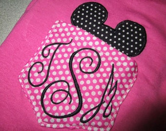 Mickey Mouse Monogram Pocket Tee