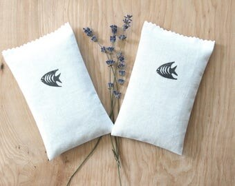 Tropical Fish Lavender Sachets, Scented Drawer Sachets, Minimalist Tropical Bedroom Decor