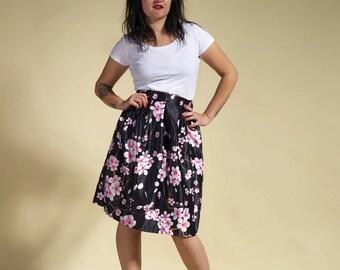 """Japanese skirt, flowery skirt, skirt lotus """" Hana Sukato """""""