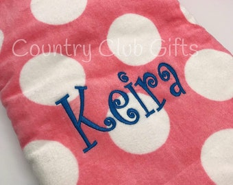 Polka Dot Beach towels | Personalized beach towels | Monogram | purple | pink | blue | towels | personalized towel | Beach Towels