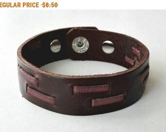 Brown Leather Cuff Bracelet Leather Bracelet