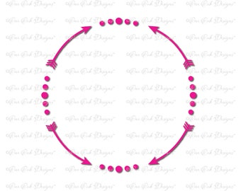 Arrow Circle Frame SVG File PDF / dxf / jpg / png / for Cameo, for Cricut & other electronic cutters