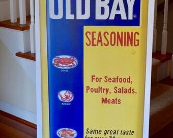 24x48 Large Maryland Baltimore Annapolis Chesapeake Old Bay Crab Seasoning Kitchen Giclée Print Standard Width 1.5  inch profile canvas