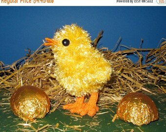 40% OFF SALE Instant Digital File pdf download madmonkeyknits Fluffy Easter Chick pdf download knitting pattern